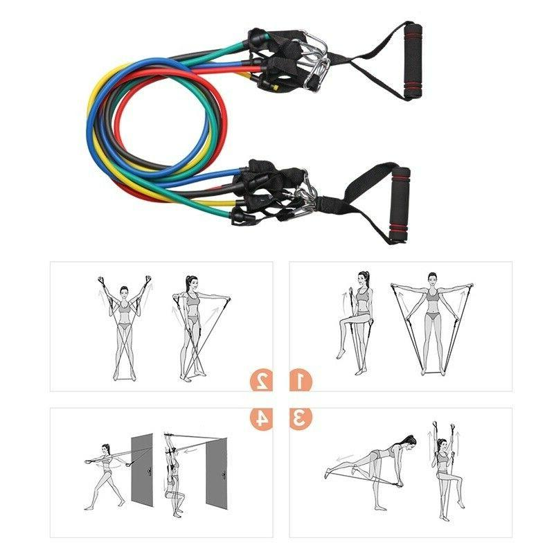 Yoga Exercise Fitness Tube Resistance Band Home Workout