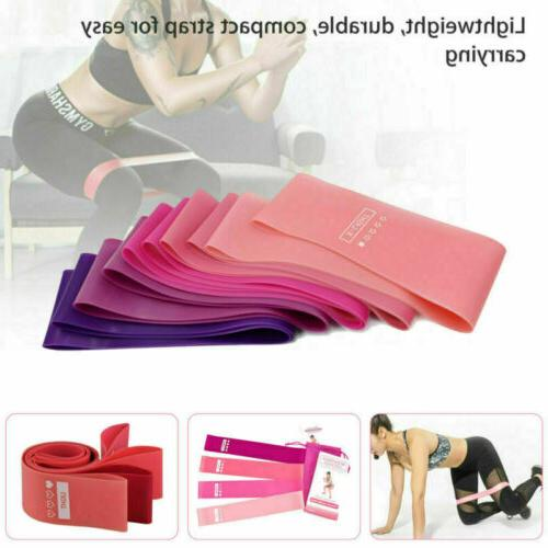 Workout Bands 5 Set Fitness Yoga Gym Booty Exercise Band