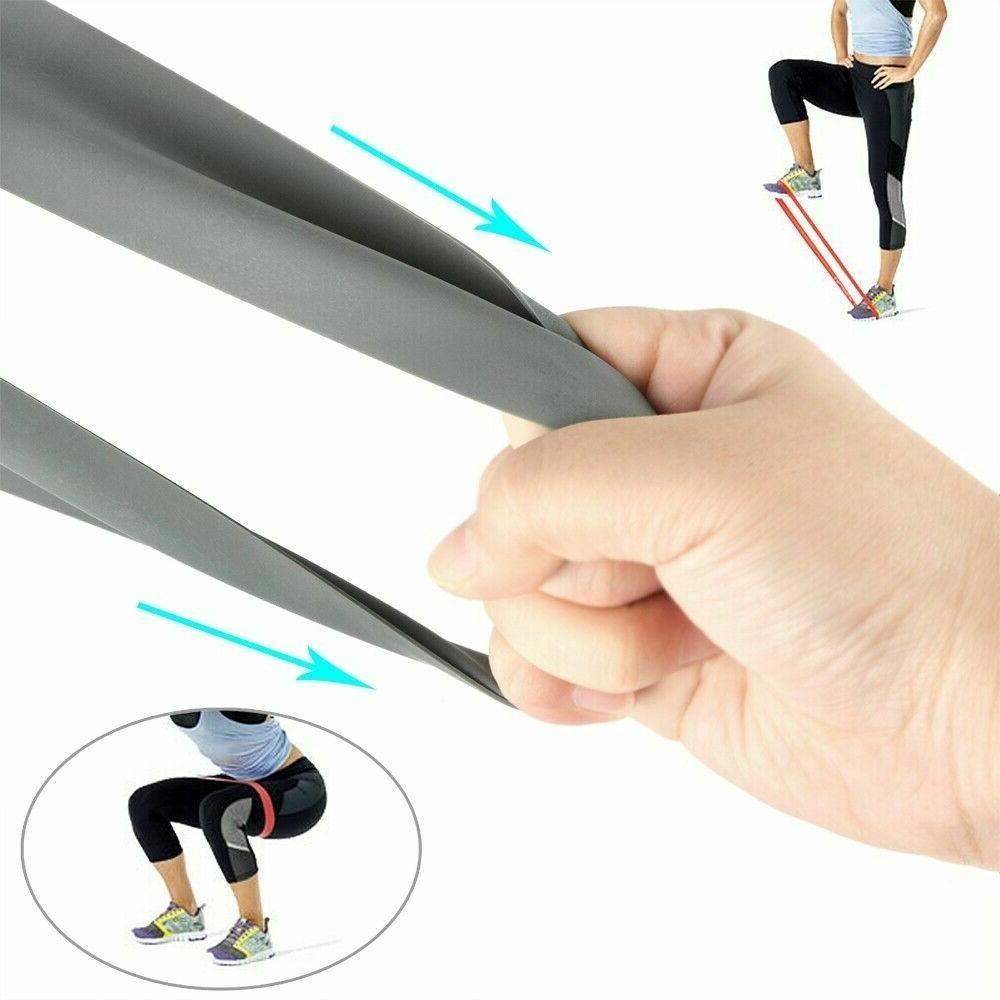Workout Bands Set CrossFit Fitness Booty Leg Exercise Band