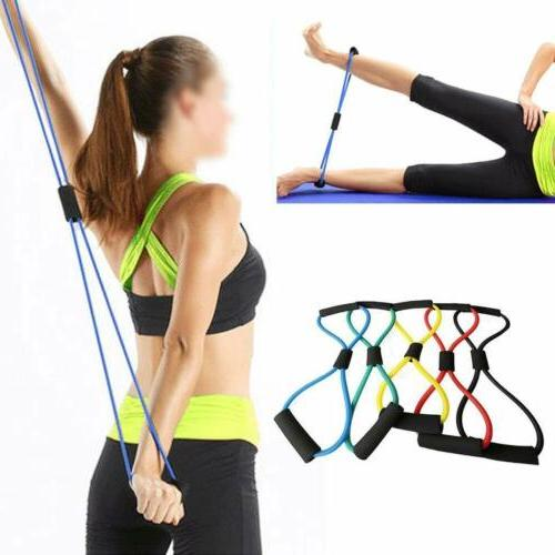 yoga rope muscle chest expander resistance gym