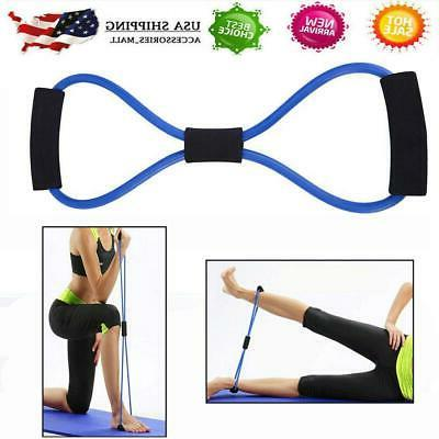 yoga fitness training resistance bands elastic tube