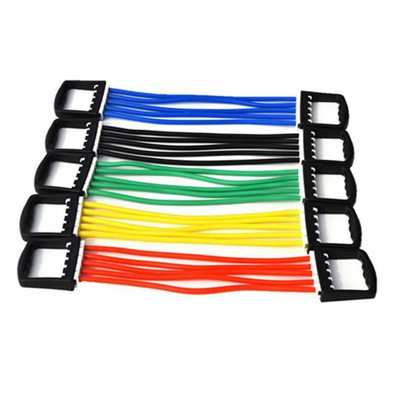 yoga five tube puller resistance cable rope