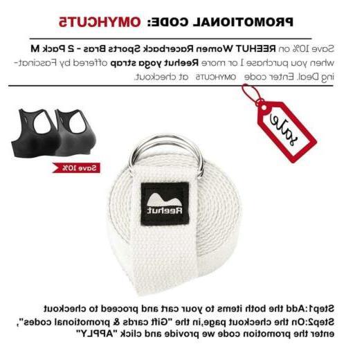 REEHUT Strap Durable Cotton Adjustable D-Ring