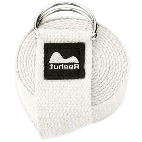 yoga strap 8ft durable polyester cotton exercise