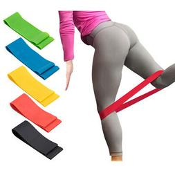 latex coloured resistance bands exercise loops home