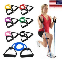 latex elastic resistance band pilates pull rope