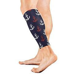 Leg Sleeve Blue White Red Anchor Compression Socks Support N