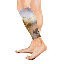 Leg Sleeve Deer Wallpaper Compression Socks Support Non Slip