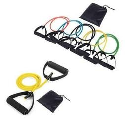 Resistance Bands Set of 4 Leg Thigh Fitness Exercise Latex T