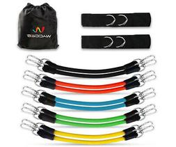 Wacces Leg Thigh Fitness Exercise Latex Tube Resistance Band