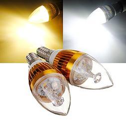 Lights & Lighting - E14 6w White/Warm White 3 Led Golden Cha