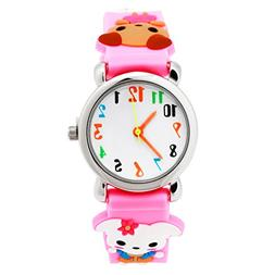 Vavna Little Girls Boy Waterproof 3D Watch Cute Cartoon Digi