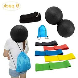 Massage Ball Resistance Bands for Muscle Myofascial Release,