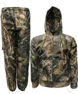 Men's Jungle Water Resistant Suit Bomber Jacket Trousers Coa