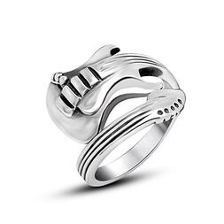 Beydodo Mens Stainless Steel Ring Celtic Rock Guitar Ring Si