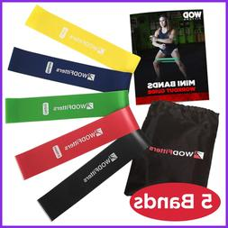 mini bands set 5 exercise workout resistance