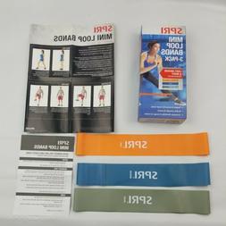 SPRI Mini LOOP BAND 3 Pack, light, medium and heavy resistan