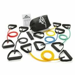 Mountain Set 6 Resistance Bands Exercise Workout Fitness Lat