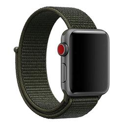 MadeforOnline Nylon Sport Loop Band Apple Watch 42mm 38mm, H