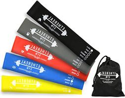 Mini Loop Exercise Bands - Set of 5 Premium Strengths - Tone