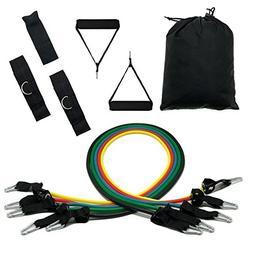 HOLYLUCK Perfect Set of Resistance Bands Exercise Bands 5pcs