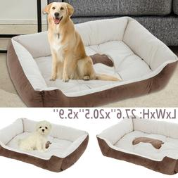Pet Cat Dog Nest Bed Puppy Soft Warm Cave House Cushion Slee