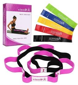 Physical Therapy and Yoga Loops Stretching Strap with 5 Exer