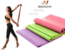 Pilates Resistance Band Stretch Therapy tubing exercise fitn