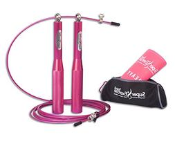 Super Exercise Band Pink Speed Cable Jump Rope And Resistanc