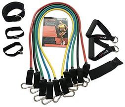 WODFitters Resistance Bands with Handle - 11 Pcs Portable Ho