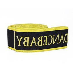 Portable Nylon Resistance Bands Black Yellow