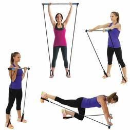 Empower Resistance Band and Toning Bar Home Gym, Portable Pi