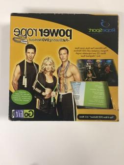 GoFit Power Rope Set W/Fat Blasting DVD Workout Excellent Co
