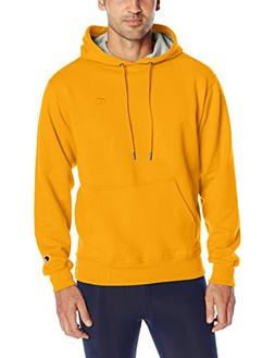 Champion Men's Powerblend Pullover Hoodie, Team Gold, Small