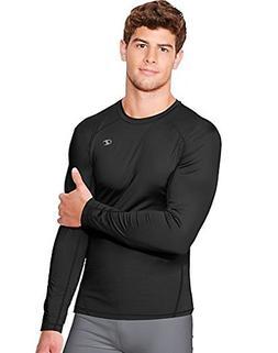 Champion Men's Powertrain Long Sleeve T-Shirt, Black, XX-Lar