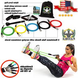 premium resistance band set abs exercise fitness