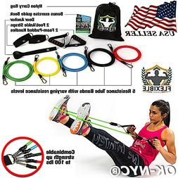 Premium Resistance Bands Set Gym Exercise Fitness Yoga Pilat