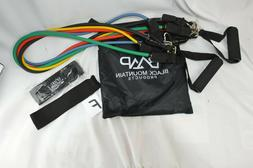 BLACK MOUNTAIN PRODUCTS BMP RESISTANCE BAND SET W/HANDLES &