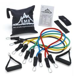 Black Mountain Products Resistance Band Set with Door Anchor