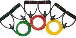 Professional Grade Resistance Bands with Handles Set of 3