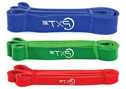PXT360 Pull Up Bar Assist Band Set By 3 Piece Workout Strap