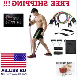 Pull Rope Fitness Exercises Resistance Bands 11pcs/set Latex