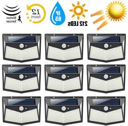 212 LED Outdoor Solar Power Motion Sensor Wall Light Waterpr