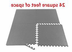 ProSource Puzzle Exercise Equipment Floor Mat EVA Foam Inter