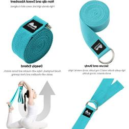Reehut Yoga Strap  W/Adjustable D-Ring Buckle - Durable Poly