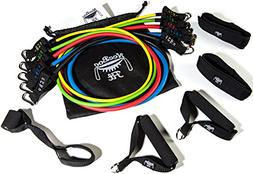 NeeBooFit Resistance Band Set - 5 Exercise Bands with 2 Hand