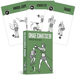 resistance band exercise cards