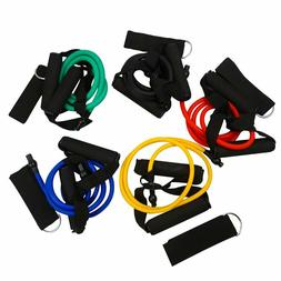 Resistance Band, Exercise Tube - With Door Anchor - Set of A