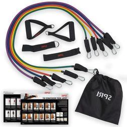 SPRI Resistance Band Kit 5 Exercise Bands Ankle/Wrist Strap