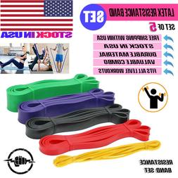 Resistance Band Power Set 5 Assist Loop for Gym Exercise Pul